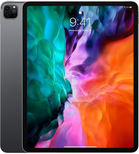 Tableta Apple iPad Pro 12.9inch Cellular (2020), Procesor Octa-Core, IPS LCD Capacitive touchscreen 12.9inch, 256GB Flash, 6GB, Camera Tripla 12+10+TOF 3D LiDAR, Wi-Fi, 4G, Bluetooth, iOS (Gri)