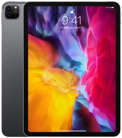 Tableta Apple iPad Pro 11inch (2020), Procesor Octa-Core, IPS LCD Capacitive touchscreen 11inch, 128GB Flash, 6GB, Camera Tripla 12+10+TOF 3D LiDAR, Wi-Fi, Bluetooth, iOS (Gri)