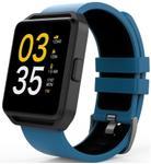 Ceas activity tracker MaxCom FitGo FW15 Square, Bluetooth, IPX54, Bratara silicon (Albastru)