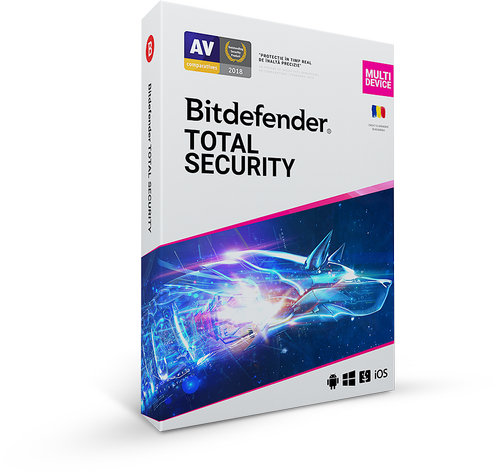 Bitdefender Total Security 2020, 3 PC + 1 Gratis, 1 an, Licenta noua, BOX/Retail