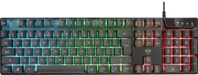Tastatura gaming Trust GXT 835 Azor, Iluminare RGB (Negru)