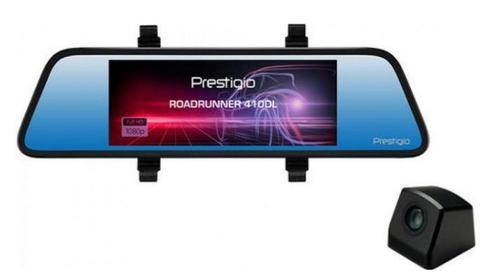 Camera Video Auto Prestigio RoadRunner 410DL, Full HD, Camera Duala, 6.86inch LCD, CMOS, 12 MP, Unghi de viziualizare de 100° (Negru)