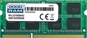 Memorie laptop GOODRAM W-LO16S04G, DDR3, 1x4GB, 1600MHz, CL11, 1.5V