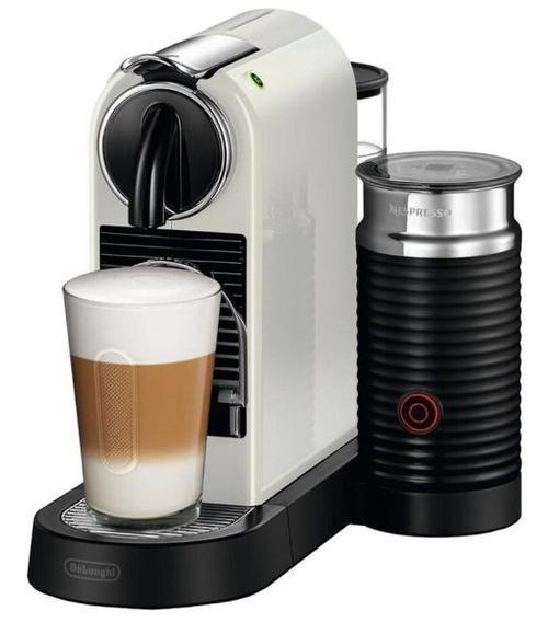 Espressor DeLonghi Nespresso Citiz&Milk EN 267.WAE, 1710 W, 19 bari, 1 l (Alb/Negru)