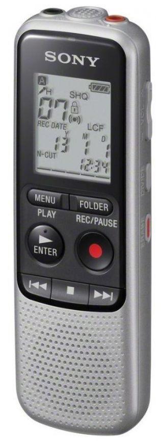 Reportofon Sony ICD-BX140, 4GB, Functie MP3 (Negru/Argintiu)