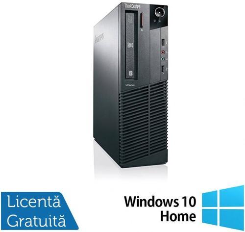 Sistem PC Refurbished Lenovo Thinkcentre M83 SFF (Procesor Intel® Core™ i3-4130 (3M Cache, up to 3.40 GHz), Haswell, 8GB, 500GB HDD, Intel® HD Graphics 4400, Win10 Home, Negru) imagine