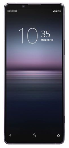 Telefon Mobil Sony Xperia 1 II, Procesor Snapdragon 865, OLED Capacitive touchscreen 6.5inch, 8GB RAM, 256GB Flash, Camera Tripla 12+12+12MP, 5G, Wi-Fi, Dual SIM, Android (Violet)