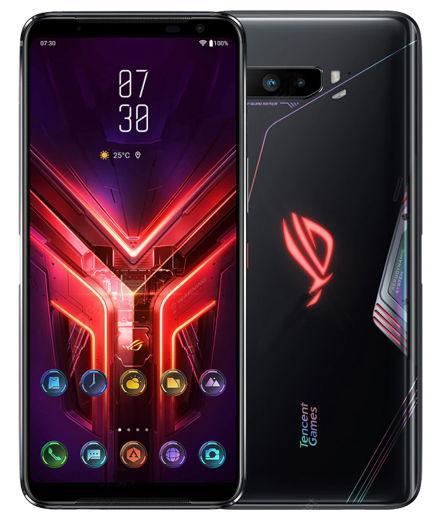 Telefon Mobil ASUS ROG Phone 3, Procesor Octa-Core Snapdragon 865, AMOLED Capacitiv Touchscreen 6.59inch, 12GB RAM, 128GB Flash, Camera 64+13+5MP, Wi-Fi, 5G, Dual Sim, Android (Negru) imagine evomag.ro 2021