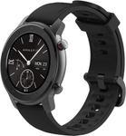 "Smartwatch Huami Amazfit GTR Lite, Display AMOLED 1.39"", Bluetooth, Bratara Cauciuc 47mm, Android/iOS (Negru)"