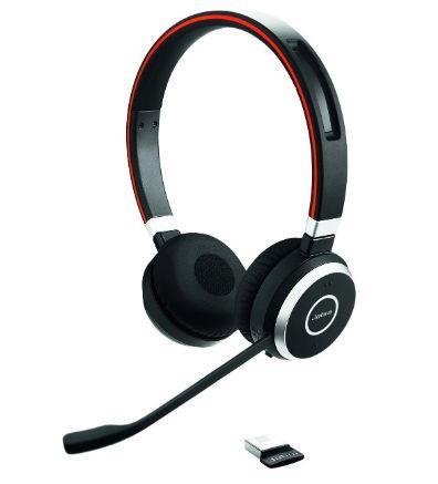 Casti Wireless Jabra Evolve 65 MS Duo USB, Noise-canceling, Bluetooth/USB (Negru)
