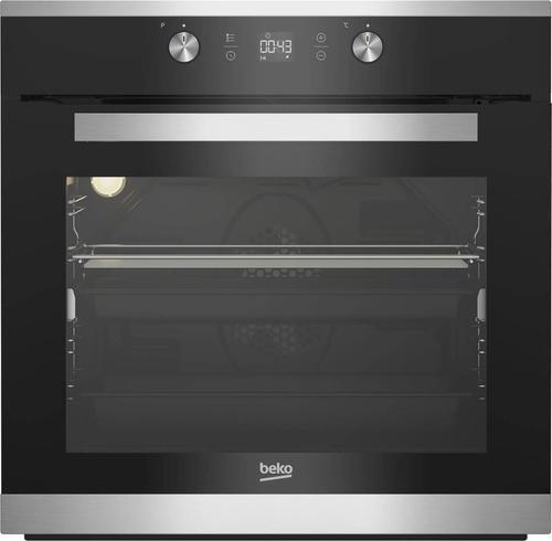 Cuptor incorporabil Beko BIM15300XPS, 71 l, Electric, 7 Functii, Autocuratare pirolitica, Grill, 3D Cooking, Ventilare Eco, Clasa A+ (Negru/Inox)