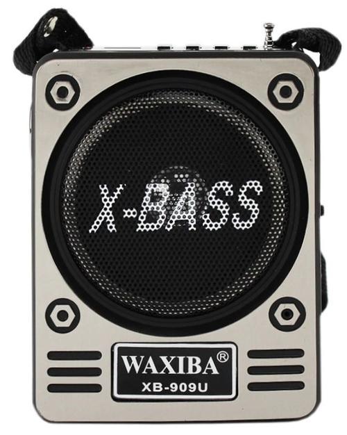 Radio Portabil retro Waxiba XB909A, usb, tf/sd, fm, mp3, lanterna, jack 3.5 mm, antena, acumulator incorporat (Gri)