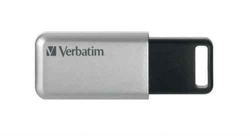 Stick USB Verbatim Store 'n' Go Secure Pro, 64GB, USB 3.0 (Argintiu)