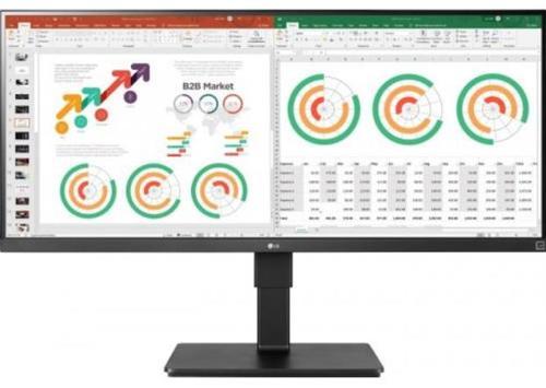 Monitor IPS LED LG 34inch 34BN770-B, 3440 x 1440, HDMI, DisplayPort, USB 3.0, Boxe, Pivot, 75 Hz (Negru)