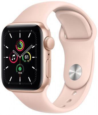 Smartwatch Apple Watch SE, Retina LTPO OLED Capacitive touchscreen 1.57inch, Bluetooth, Wi-Fi, Bratara Silicon 40mm, Carcasa Aluminiu, Rezistent la apa (Roz) imagine evomag.ro 2021