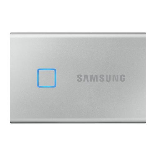 SSD Extern Samsung T7 Touch, 2TB, USB 3.2 Gen2, Senzor Amprenta (Argintiu)