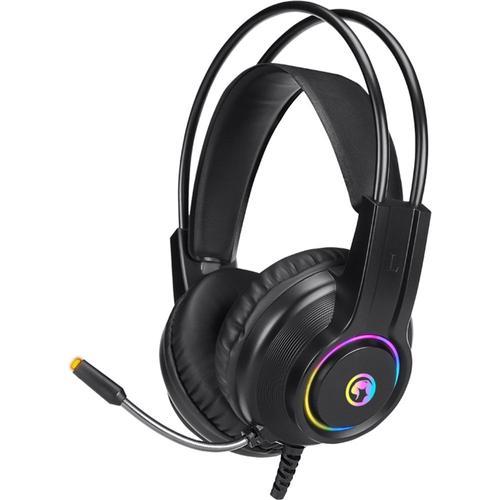Casti Gaming Marvo HG8935, iluminare Rainbow, USB (Negru)