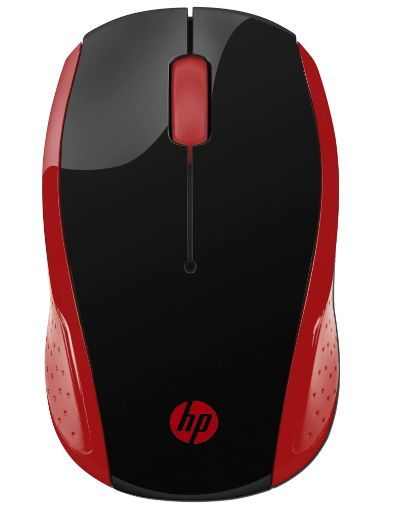 Mouse Wireless Optic HP 200, USB (Negru/Rosu)