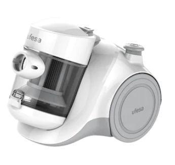 Aspirator fara sac Ufesa AS2300, 450 W, 1.5 L (Alb/Argintiu)