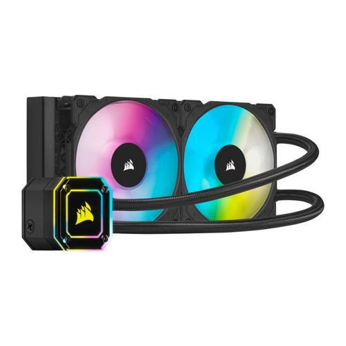 Cooler CPU Corsair iCUE H100i Elite Capellix, 2 x 120mm, iluminare RGB