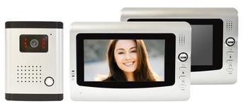 "Interfon video PNI DF-926-2, cu 2 monitoare, LCD 7"""