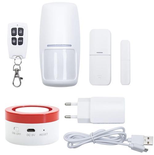 Sistem de alarma wireless PNI Safe House PG600, conectare wireless, alarma antiefractie, alarma fara fir, alerta inteligenta prin aplicatia TUYA iOS / Android, compatibil cu Alexa si Google Assistant (Alb) imagine