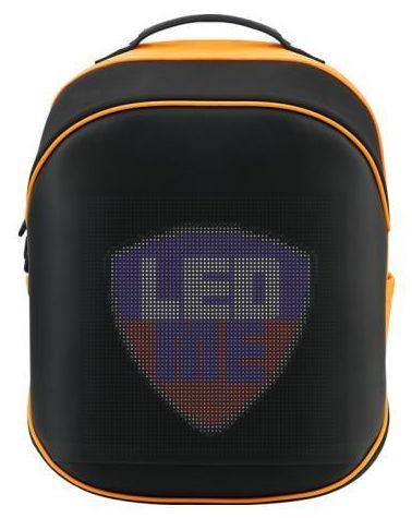 Rucsac LED Prestigio PBLED125BO, Display LED, pentru laptop 13.9inch (Negru/Portocaliu) poza 2021