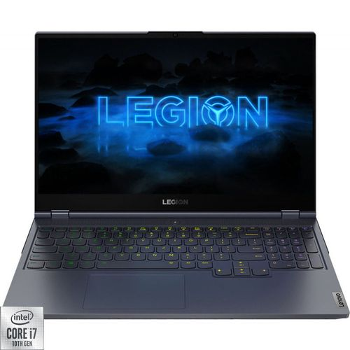 Laptop Gaming Lenovo Legion 7 15IMH05 (Procesor Intel® Core™ i7-10750H (12M Cache, up to 5.00 GHz), Comet Lake, 15.6inch FHD 240Hz, 16GB, 512GB SSD, nVidia GeForce RTX 2060 @6GB, No OS, Gri) imagine
