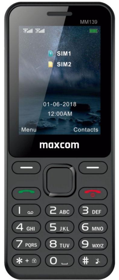 Telefon mobil MaxCom MM139, Ecran 2.4inch, 2G, Dual SIM (Negru)
