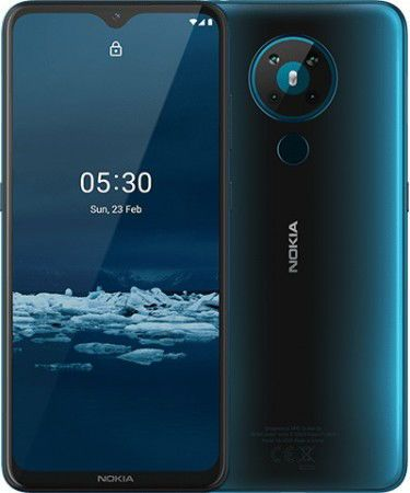 Telefon Mobil Nokia 5.4, Procesor Snapdragon 662, Octa-Core 2.0/1.8 GHz, IPS LCD Capacitive Touchscreen 6.39inch, 4GB RAM, 64GB Flash, Camera Quad 48+5+2+2MP, Wi-Fi, 4G, Dual Sim, Android (Albastru)