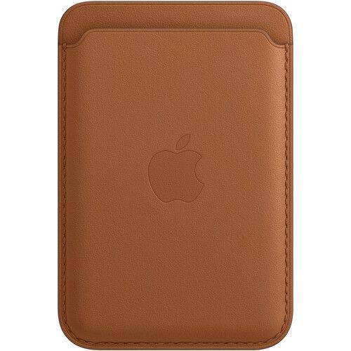 Portofel Apple MagSafe Saddle Brown MHLR3ZM/A pentru Apple iPhone 12 Pro Max, iPhone 12 Pro, iPhone 12, iPhone 12 mini (Maro) imagine