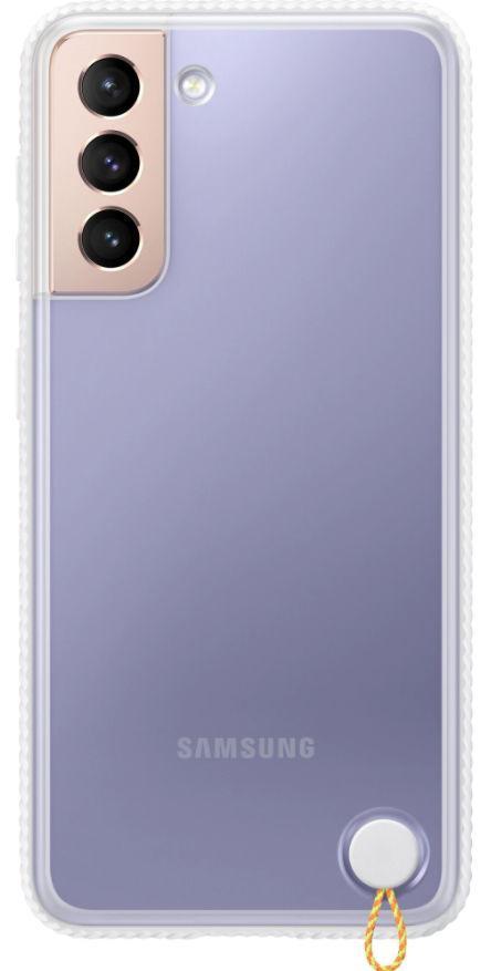 Protectie Spate Samsung Clear Protective Cover EF-GG991CWEGWW pentru Samsung Galaxy S21 (Transparent/Alb) de la evomag.ro