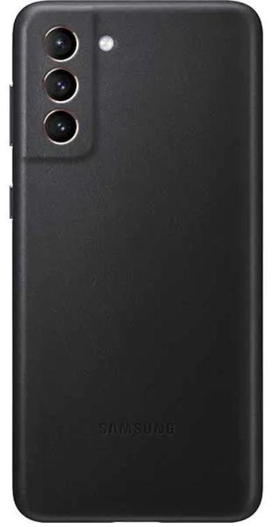 Protectie Spate Samsung Leather Cover EF-VG996LBEGWW pentru Samsung Galaxy S21 Plus (Negru) de la evomag.ro