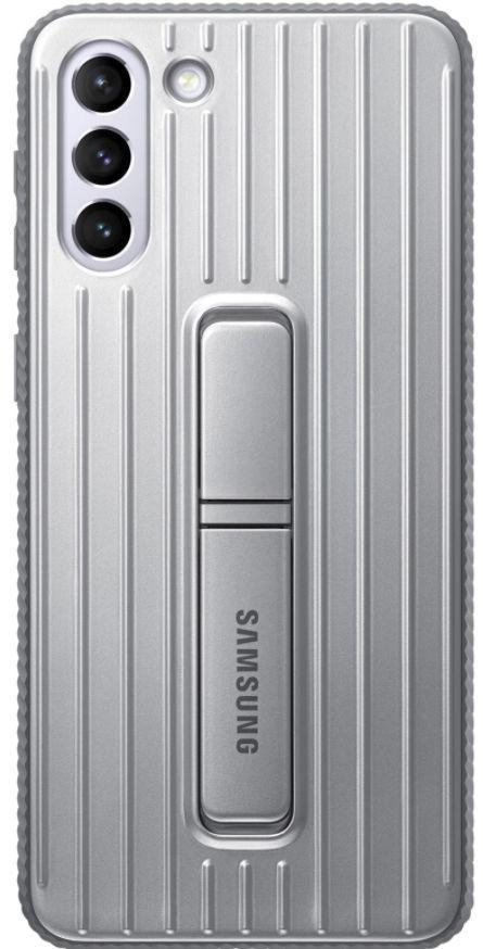 Protectie Spate Samsung Protective Standing Cover EF-RG996CJEGWW pentru Samsung Galaxy S21 Plus (Gri) de la evomag.ro