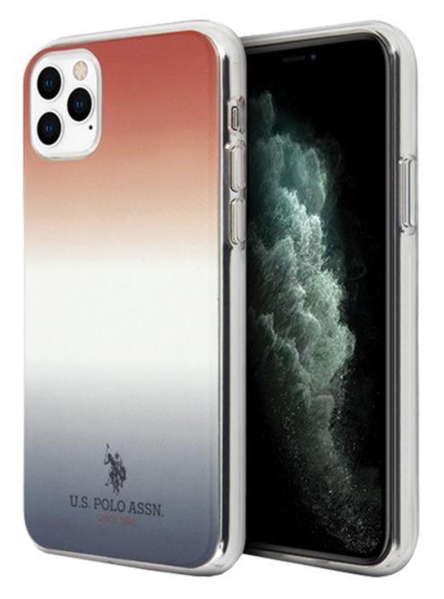 Protectie Spate US Polo Gradient Pattern Collection USHCN65TRDGRB pentru Apple iPhone 11 Pro Max (Multicolor)