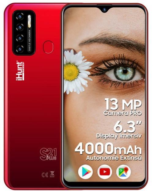 Telefon Mobil iHunt S21 Plus 2021, Procesor Spreadtrum SC7731E, Ecran IPS 6.3inch, 2GB RAM, 16GB Flash, Camera 13 MP, Wi-Fi, 3G, Dual SIM, Android (Rosu)