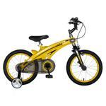 "Bicicleta Copii Rich Baby W1639D, roti 16"", cadru aliaj magneziu, frana C-Brake, roti ajutatoare, 4-6 ani, (Galben/Negru)"