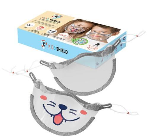 Masca protectie faciala Cerkamed pentru copii, Tip Viziera, 2 buc imagine evomag.ro 2021