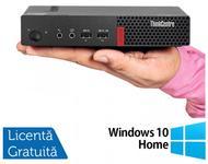 Calculator Sistem PC Refurbished Lenovo ThinkCentre M710 Mini PC, Intel Core i3-7100 3.90GHz, 4GB DDR4, 500GB SATA + Windows 10 Home (Negru)