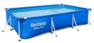 Piscina supraterana cu cadru metalic Bestway Steel PRO, Dreptunghiulara, 300 x 201 x 66 cm, 3300 L (Albastru)