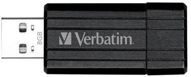 Stick USB Verbatim Store n Go PinStripe 8GB (Negru)