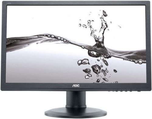 Monitor TN LED AOC 22inch e2260Pda, DVI-D, VGA, 5ms, Boxe (Negru)