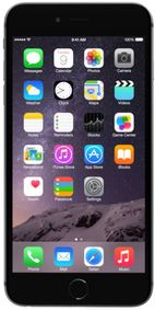 Telefon Mobil Apple iPhone 6 Plus, Procesor Apple A8 Dual Core 1.4 GHz, IPS LED-backlit widescreen Multi?Touch 5.5inch, 1GB RAM, 16GB flash, 8MP, Wi-Fi, 4G, iOS 8 (Gri)