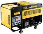 Generator Curent Electric Kipor KDE 12 EA3, 10.5 kVA, Motor 2 cilindrii in linie V, 4 timpi, aspiratie, cadru deschis, Diesel, Autonomie 7 ore