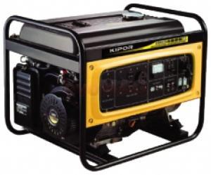 Generator Curent Electric Kipor KGE 6500X3, 6.0 kVA, Motor 1 cilindru, 4 timpi, OHV, cadru deschis, Benzina, Autonomie 9 ore