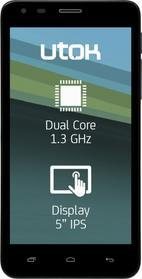 Telefon Mobil Utok 500D, Procesor Dual-Core Mediatek 6572W 1.3GHz, IPS 5inch, 512MB DDR3, 4GB Flash, 8 MP, 3G, WI-FI, Dual Sim, Android (Negru)