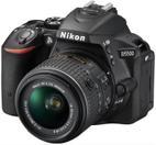 Aparat Foto D-SLR NIKON D5500 (Negru) cu Obiectiv 18-55mm VR II, Filmare Full HD, 24.2 MP