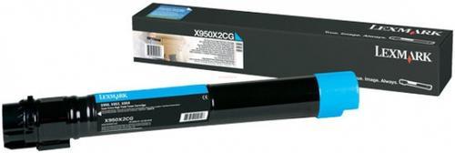 Toner Lexmark X950X2CG (Cyan - De mare productivitate)