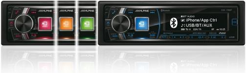 Player CD auto Alpine CDE-178BT, 4x50W, USB, Bluetooth, iluminare taste in 4 culori