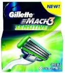 Rezerva aparat Gillette Mach3 Manual Sensitive SET 4